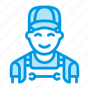 man, mechanic, plumber, repair icon