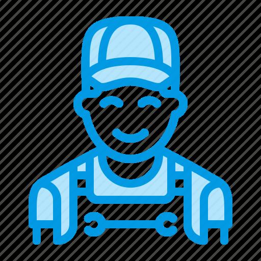 man, mechanic, plumber, repair icon