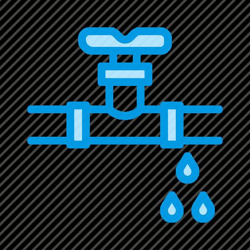 Leak, pipe, plumbing, valve, water icon - Download on Iconfinder