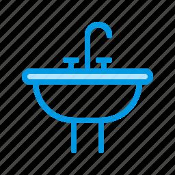 bathroom, fauset, plumbing, sink icon