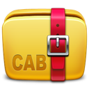archive, cab, folder icon