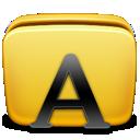folder, fonts icon