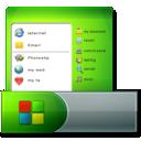 menu, start, taskbar icon