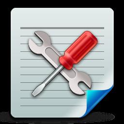 config, document icon