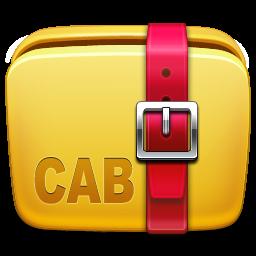 archive, cab, folder icon