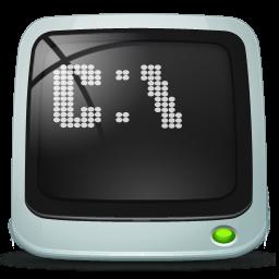 run, shell icon