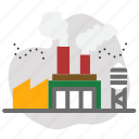 factory, industry, smoke icon