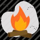 burn, fire, pollution icon