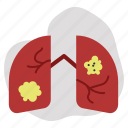 cancer, hurt, lung icon