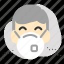 man, mask, pm2, wearing icon