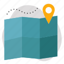 data, location, map icon