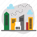 buildings, city, downtown, town icon