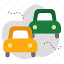 cars, pollution, transport icon
