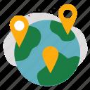 check, data, destination, global, location, world icon
