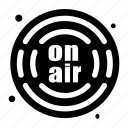 onair, radio, podcast, microphone, audio icon