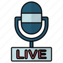 air, audio, live, on, podcast icon
