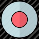 hit record, media button, record, record button icon