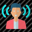 host, male, man, podcast, radio