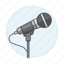audio, desk, dynamic, metal, microphone, podcast, recording, streaming, vocal icon