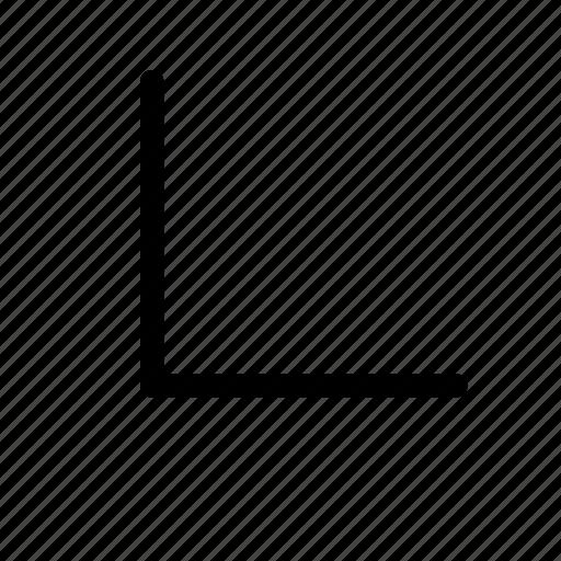 bottom, chevron, corner, left icon