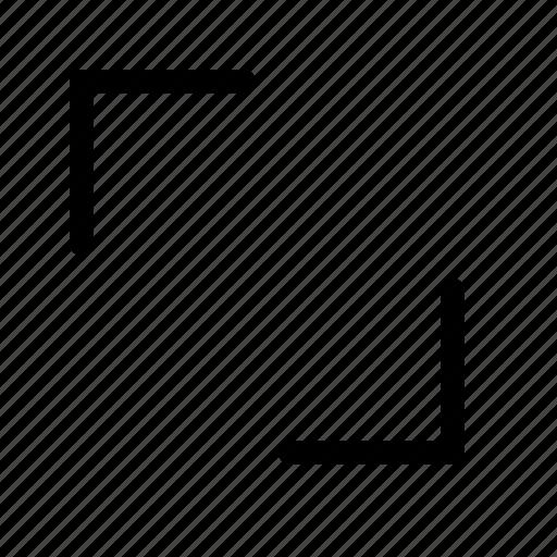 chevron, diagonally, expand, fullscreen, maximize, resize, size icon