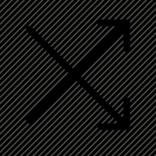 arrow, intersect, random, right, shuffle, swap, switch icon