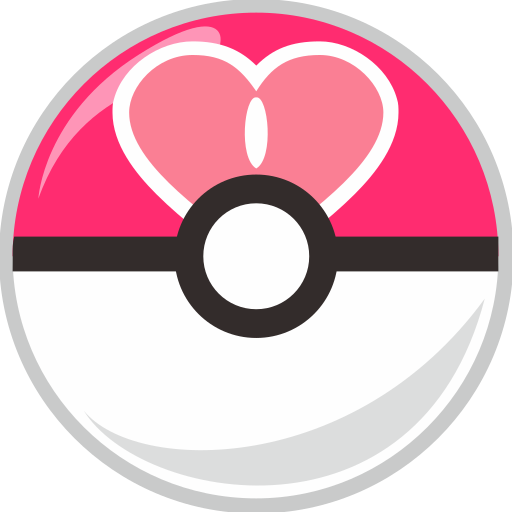 ball, love, pocket, pocket monster icon