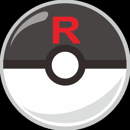 ball, pocket monster, poke, rocket, team icon