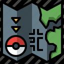 game, gaming, map, nintendo, people, pokemon, video icon