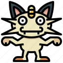 game, gaming, gartoon, meowth, nintendo, pokemon, video icon