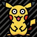 game, gaming, gartoon, nintendo, pikachu, pokemon, video icon
