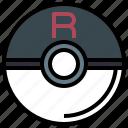 ball, nintendo, people, pokemon, rocket, team, video icon