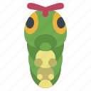 caterpie, game, gaming, gartoon, nintendo, pokemon, video icon