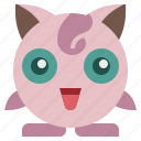 game, gaming, gartoon, gigglypuff, nintendo, pokemon, video icon