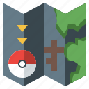 game, gaming, map, nintendo, people, pokemon, video icon