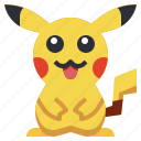 game, gaming, gartoon, nintendo, pikachu, pokemon, video icon