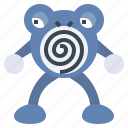 game, gaming, gartoon, nintendo, pokemon, polowhirl, video icon