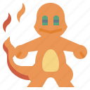game, gaming, gartoon, nintendo, pokemon, sharmander, video icon