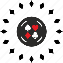 casino, chip, gamble, game icon