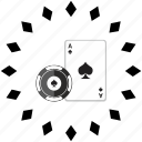card, casino, chip, gamble, poker icon