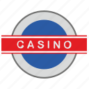 casino, gamble, game, label icon