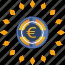 casino, euro, gamble, game, roll