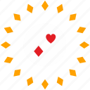 casino, gamble, label, poker icon