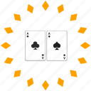 cards, casino, gamble, poker icon