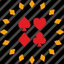 casino, gamble, label, poker icon