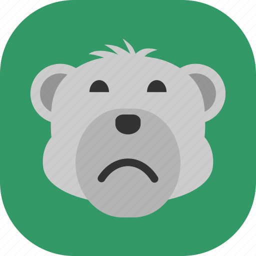 Emoticon, expression, face, polarbear, sad, smile icon - Download on Iconfinder
