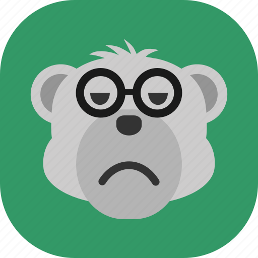 Emoticon, expression, face, polarbear, sad, smile icon - Download on Iconfinder