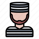 criminal, jail, justice, law, police, prison, prisoner icon