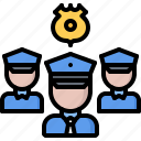 group, justice, law, police, policeman, team