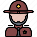 justice, law, police, policeman, sheriff icon